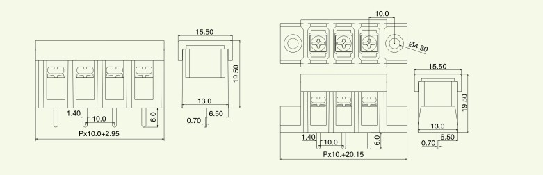 宁波凯飞电子有限公司是一家专业生产接线端子的制造商,主要产品有:螺钉式PCB接线端子台、弹簧式PCB接线端子台、插拔式接线端子、栅栏式接线端子、贯通式接线端子、轨道式接线端子、建筑接线端子、灯具接线端子、LED贴片接线端子、免螺丝接线端子、WAGO连接器接线端子等。产品主要应用于安防、灯具、仪器仪表、工业电源、电子专业设备等领域。 间距:10mm;极数:2P-30P;额定电压/电流:300V/30A